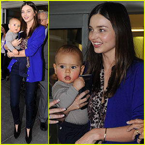 Miranda Kerr & Flynn Fly to NYC!