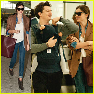 Miranda Kerr, Orlando Bloom &#038; Flynn Head Out from Heathrow