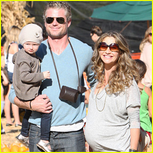 Rebecca Gayheart & Eric Dane: Pumpkin Patch with Billie!