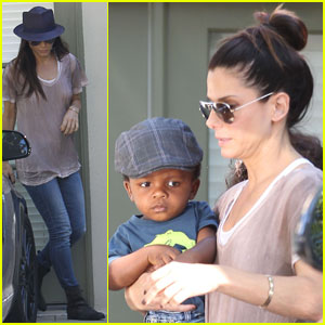 Sandra Bullock & Louis Visit Friends in Los Feliz