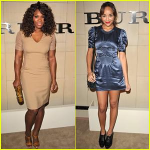 Serena Williams & Ashley Madekwe: Burberry Body Bash!