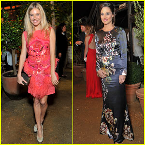 Sienna Miller & Pippa Middleton: All Saints Dinner Duo
