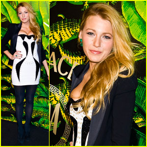 Blake Lively: Versace for H&M Launch Party!