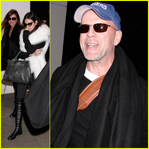 Bruce Willis & Emma Heming: LAX Arrival with Tallulah & Rumer!