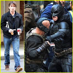 Christian Bale & Tom Hardy: Batman & Bane Battle!