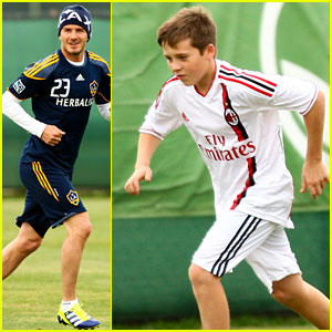 David & Brooklyn Beckham: Soccer Stars!
