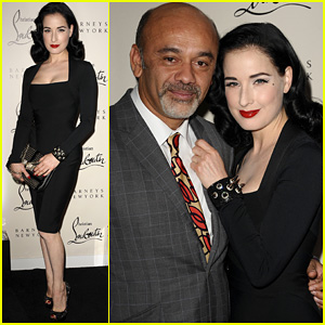 Dita Von Teese: Christian Louboutin Launch Party Cutie!