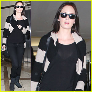 Emily Blunt Takes Off from LAX