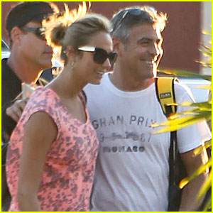 George Clooney & Stacy Keibler Head Home from Cabo