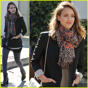 Jessica Alba: Fred Segal with a Friend