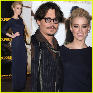 Johnny Depp & Amber Heard Premiere 'Rum Diary' in Paris