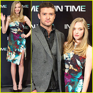 Amanda Seyfried & Justin Timberlake: 'In Time' in Madrid!