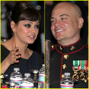 Mila Kunis: Marine Corps Ball with Sergeant Scott Moore!