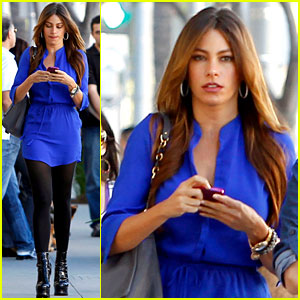 Sofia Vergara: Blue in Beverly Hills!