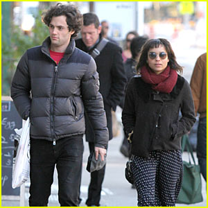 Zoe Kravitz: Penn Badgley Birthday Stroll!