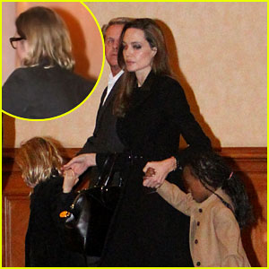 Angelina Jolie &#038; Brad Pitt: Cirque du Soleil with the Kids!