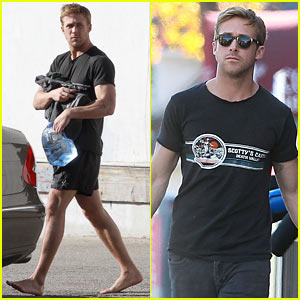 Barefoot Ryan Gosling:  MMA Class in Hollywood!