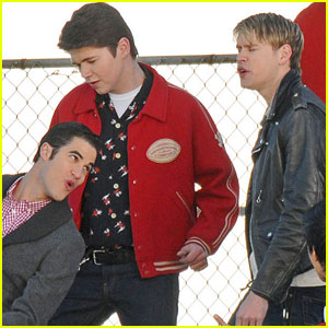 Chord Overstreet: Back to 'Glee' Set!