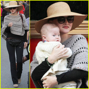 Devon Aoki Hits The Grove With Baby Hunter