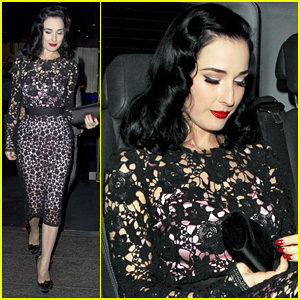 Dita Von Teese: Playboy Club Christmas Party!