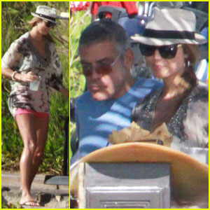 George Clooney & Stacy Keibler: Cabo Couple