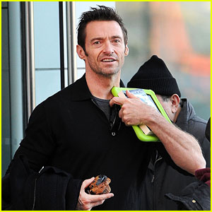 Hugh Jackman: Neon Green iPad Case!