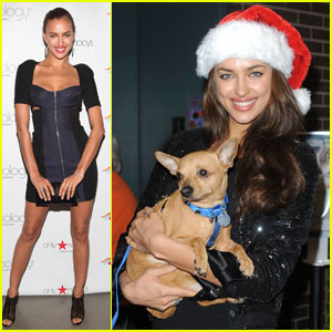 Irina Shayk Visits ASPCA's Adoption Center
