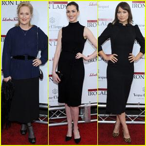 Meryl Streep & Anne Hathaway: 'Iron Lady' Premiere!