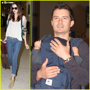 Miranda Kerr &#038; Orlando Bloom: Home for the Holidays!