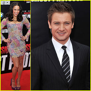 Paula Patton: 'Ghost Protocol' Premiere with Jeremy Renner!