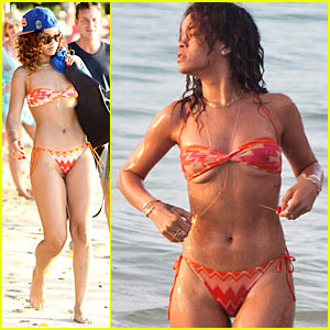 Rihanna: Bikini for Christmas Vacation!