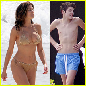 Stephanie Seymour: St. Bart's with Brant Boys!