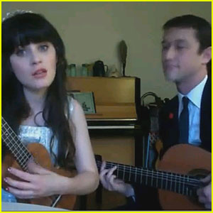 Zooey Deschanel &#038; Joseph Gordon-Levitt Sing Together - VIDEO
