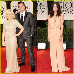 Amy Poehler & Kristen Wiig - Golden Globes 2012 Red Carpet