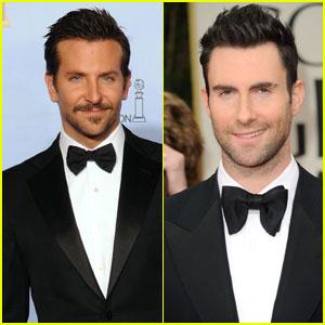 Bradley Cooper & Adam Levine - Golden Globes 2012
