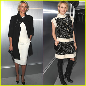 Cameron Diaz: Chanel Show with Diane Kruger!