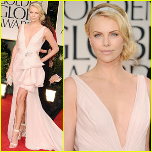 Charlize Theron - Golden Globes 2012 Red Carpet