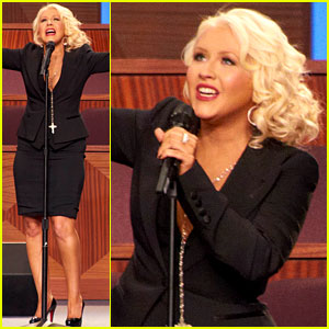 Christina Aguilera Sings 'At Last' at Etta James' Funeral