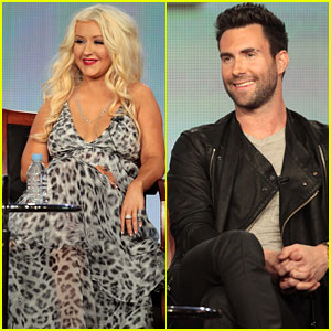 Christina Aguilera & Adam Levine: 'The Voice' at TCA!