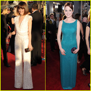 Rose Byrne Amp Ellie Kemper Sag Awards 2012 Red Carpet