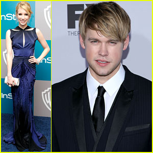 Emma Roberts &#038; Chord Overstreet: Golden Globes Partiers!