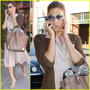 Eva Mendes: Medical Building Visit