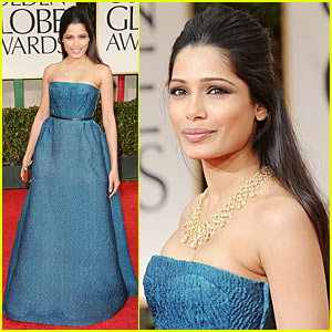 Freida Pinto - Golden Globes 2012 Red Carpet