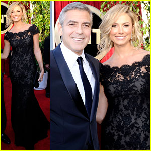 George Clooney & Stacy Keibler - SAG Awards 2012 Red Carpet