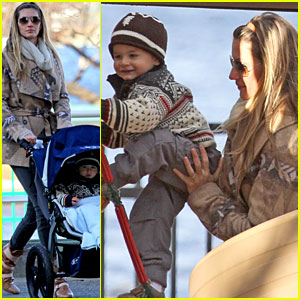 Gisele Bundchen & Tom Brady: Playground with Benjamin!