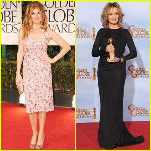 Jessica Lange Amp Connie Britton Golden Globes 2012 Red