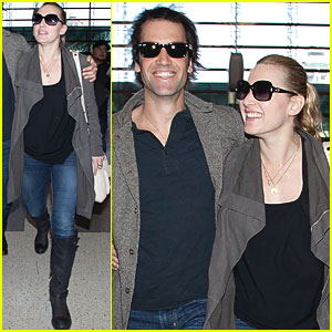 Kate Winslet & Ned Rocknroll Head Home from Los Angeles