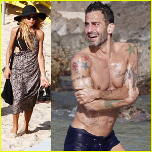 Marc Jacobs: Shirtless in St. Barts on New Year's Day!
