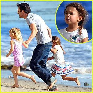 Olivier Martinez & Nahla Hit the Beach