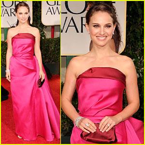 Natalie Portman Golden Globes 2012 Red Carpet 2012